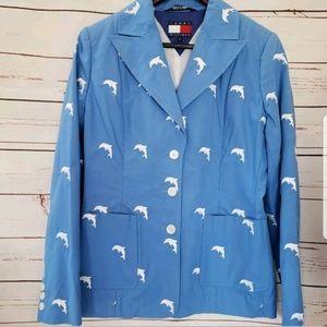 Tommy Hilfiger dolphin blazer rare sz 8 suit coat